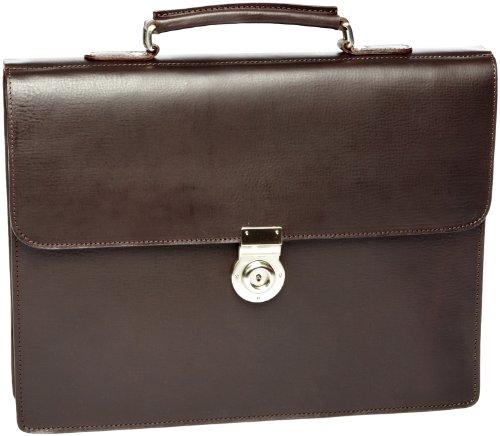 Leonhard Heyden Tradition Briefcase, Bagage homme - Noir-V.6, Taille unique Marron-V.5