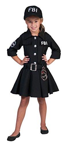 FBI Agent Kostüm Polizistin für Mädchen Gr. - Tanz Show Kostüm Billig