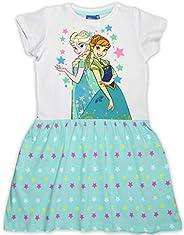 Disney - Vestido de verano de algodón para niñas de Frozen Anna Elsa