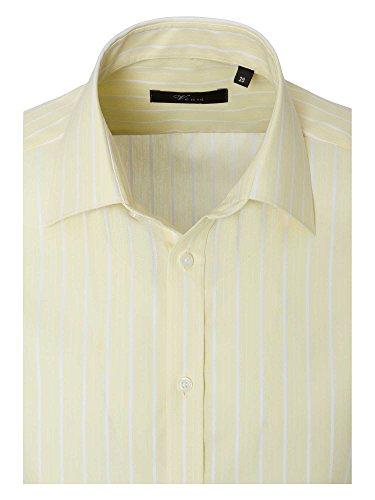 Venti Messieurs Chemise d'affaires 100 % coton slim fit jaune clair