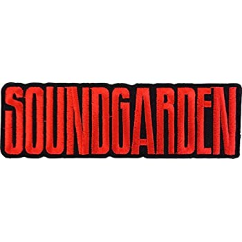 1.6 x 4.8 Embroidered PATCH Iron-On // Sew-On Officially Licensed Soundgarden Logo