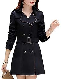 Zengbang Mujer Chaquetas Casuales de Doble Botonadura Manga Larga Abrigo de  Gabardina con Cinturón 8d5f0e0d8009