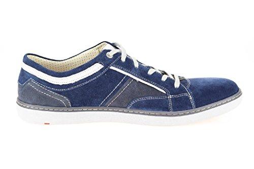 LLOYD 15-002-32 aberdeen-chaussures à lacets casual kalbvelour/nubuck-semelle en caoutchouc (bleu) Bleu - Bleu marine