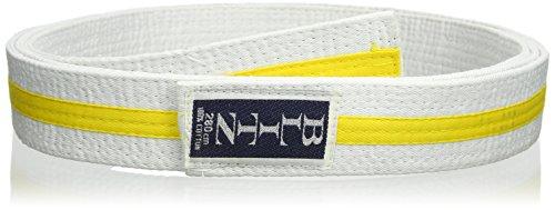 Blitz - 2529 - rayé Ceinture, mixte, Striped - blanc/jaune - 230 cm