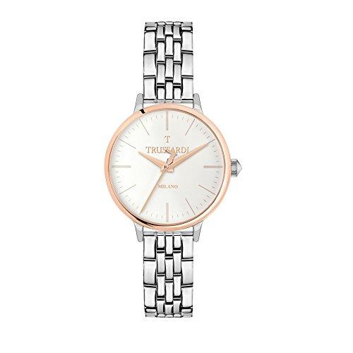 TRUSSARDI Reloj Analógico para Mujer de Cuarzo con Correa en Acero Inoxidable R2453126503