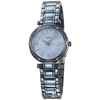 Guess Reloj Analógico para Mujer de Cuarzo con Correa en Acero Inoxidable W0767L4