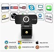 Webcam HD 1080P Webcams 30fps USB 2.0 Web Digital Camera with Microphone Clip-on Camera WebCam for PC Laptop D