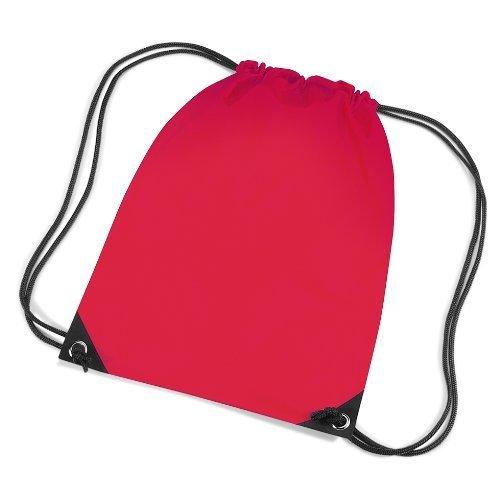BAG BASE - sac à bretelles - gym - linge sale - chaussures - BG10 - rouge bright