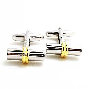 Covink® Damen Manschettenknöpfe Silber und Gold Schmuck Zylinder Manschettenknöpfe Frauen Ärmel Button mit Geschenk Tasche