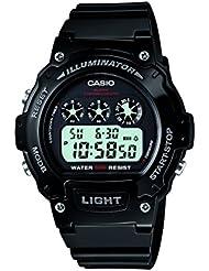 Casio - Unisexe - W-214HC-1A - Sports - Quartz Digital - Cadran LCD - Noir - Résine