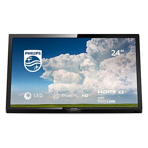 41OPwKOHM3L. SS500  - Philips 24PHT4304/05 24-Inch HD Ready LED TV with Pixel Plus HD, HDMI, PC-In, USB - Black (2019/2020 model)