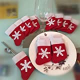 10Pcs/Set Christmas Socks Cutlery Tablew...
