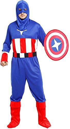 Inception Pro Infinite M - L - Einheitsgröße - Kostüm - Crossdressing - Karneval - Halloween - Captain America - Superheld - Blaue Farbe - Erwachsene - Mann - Junge