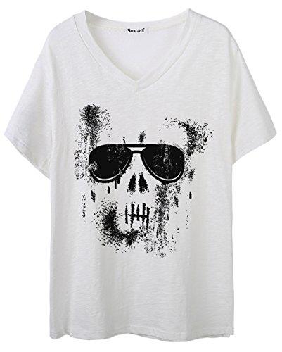 So'each Damen T-Shirt One size Weiß