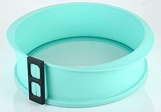 SilikonKüche Springform 23 cm mit Glasteller - Antihaftwirkung, 10 Jahre Garantie