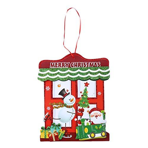 Sperrins Frohe Weihnachten Ornament hängen Anhänger Dekorationen für Weihnachtsbaum Neujahr Fenster Tür Wand Decke Dekor (Farbe 1)