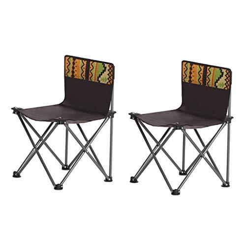Chaise pliante extérieure Chaise de directeur portable Chaise de plage Chaise de croquis Chaise de voiture Tabouret Parc Camping (Color : Brown)