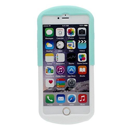 Schutzhülle für iPhone 6S Hülle, Weich Slikon Gel Kreativ 3D Juice Badass Juicy Flasche Gestalten Case Stoßfest Apple iPhone 6 4.7 inch lila