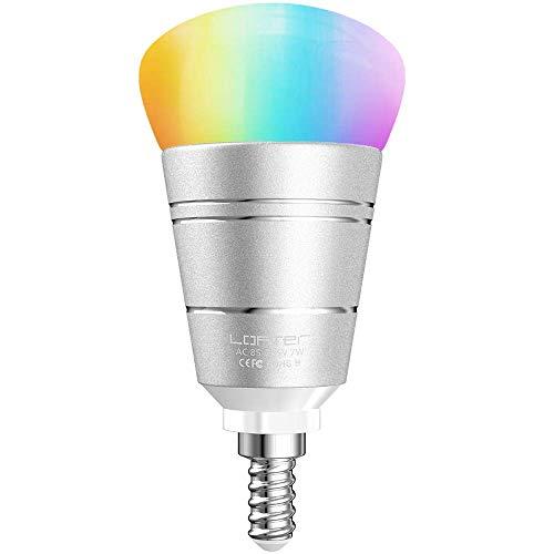 :Ampoule Intelligent, E14 Ampoule Connectee LED 7W Ampoule WiFi Compatible Avec Alexa Google Home IFTTT Ecologique Luminosité Réglable Couleurs Télécommande Par Smartphone, Classe A