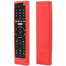 Sony Smart TV remoto Sikai a prueba de golpes carcasa de silicona funda protectora para Sony rmt-tx100d rmt-tx101d rmt-tx102d rmt-tx200e mando a distancia a la piel a prueba de polvo lavable anti-lost con mano Lanyard