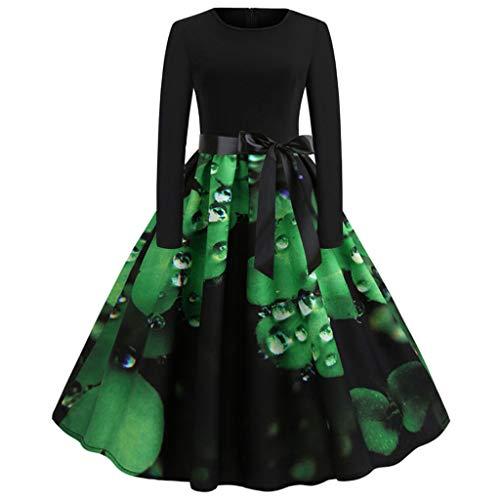 Damen Kleider, sunnymi ® St. Patrick's Day Ärmellos Abendgesellschaft Prom Swing Kleid (Patricks Day Kleider St)