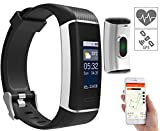 newgen medicals Fitnesstracker: Fitness-GPS-Armband mit XL-Farb-Display & App für 24 Sportarten, IP67 (Smartband)
