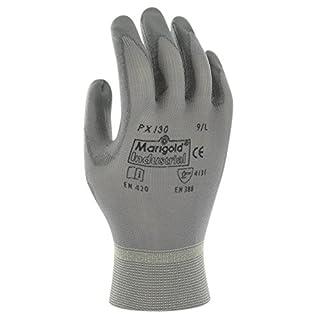 Ansell PX130 Mehrzweckhandschuhe, Mechanikschutz, Grau, Größe 6 (12 Paar pro Beutel)