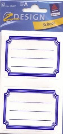 Grapadora Cartel libro de etiqueta Marco Azul