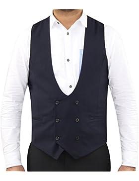 Chaleco Formal con Forro de Herradura con Botones Abiertos para Hombre Elegante Casual