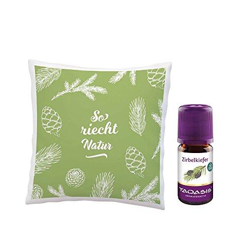 TAOASIS Zirbenkissen Set, Beruhigung und Entspannung durch den Duft von Zirbenöl Bio