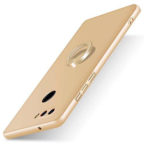 F&a® Festigkeit Smartphone Hülle mit Ring für Nubia Z17S(Gold)