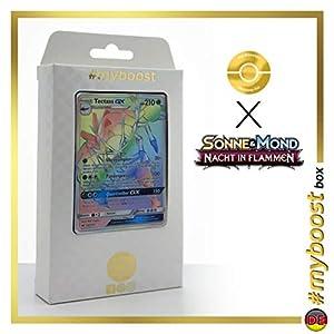 Tectass-GX (Golisopod-GX) 148/147 Arcoíris Secreta - #myboost X Sonne & Mond 3 Nacht in Flammen - Box de 10 Cartas Pokémon Aleman