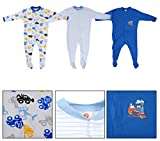 #7: Baby Grow Full Body Suit Baby Romper Set of 3 for Boy & Girls (Boys, 3-6 Months)