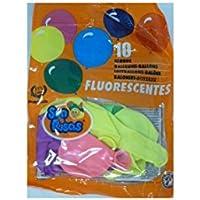 Bolsa de globos látex 24 cm 10 uds fluorescente