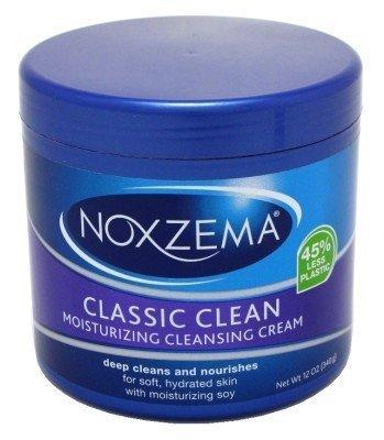 Noxzema Classic Clean Moisture Cleansing Cream 12oz Jar (3 Pack) by Noxzema