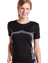 Sport Funktionswäsche Damen Kurzarm Hemd Seamless von celodoro - Thermo-, Ski- & Funktionsshirt ohne störende Nähte mit Elasthan in versch. Farben