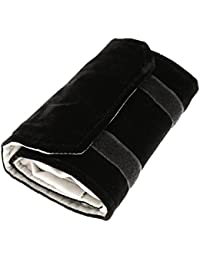 Cikuso Jewelery roll Jewelery bag, made of flannel, for ring, for jewelry storage when traveling - Black, Gray, Small