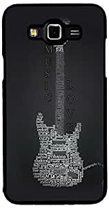 Printvisa Music Guitar Quotes Case Cover for Samsung Galaxy Grand 3 (2D-GR3-D7878)