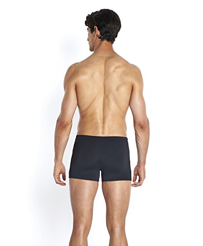 Speedo Herren Badehose Monogram Aquashorts Black/Chill Blue
