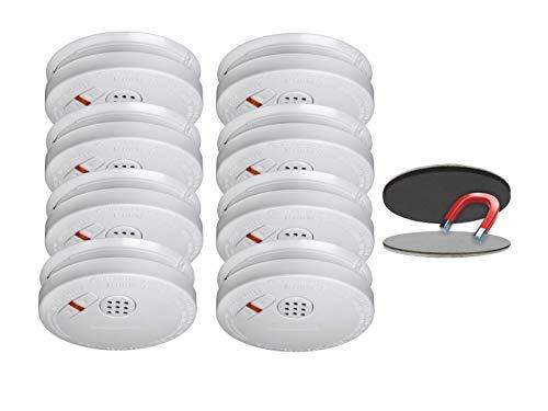8er SET Rauchmelder mit 10 Jahres Lithium Batterie - VDS Zertifiziert & Q-Siegel - mit EASY...