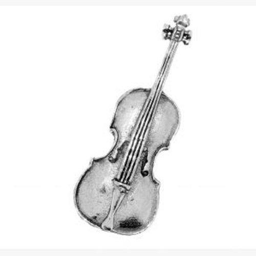 Zinn Cello Anstecker oder Brosche Geschenk für Schal, Krawatte, Mütze, Mantel oder Tasche