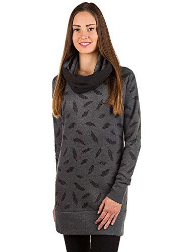 Mazine Damen Sweatshirt black melange - feathers