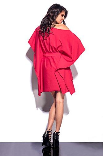 AmazingGirl Kleid Abendkleid Partykleid Elegant MidiKleid Sportkleider Rot