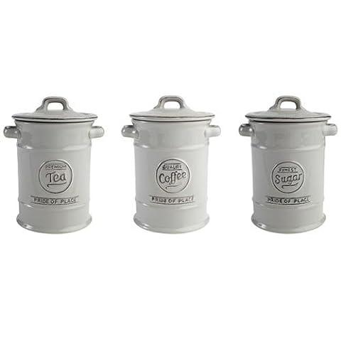 Pride of Place Tea Coffee and Sugar Storage Jars Ceramic