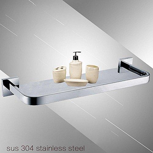 QUEEN'S Bagno rack 304 in acciaio inox vetro cosmetici tappezzerie il telaio dello specchietto 30cm (Bronzo Bagno Piastrelle)