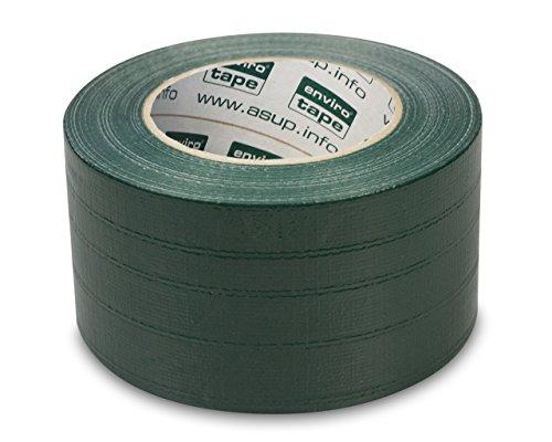 ENVIRO TAPE PROFI - Gewebeklebeband - 72 mm x 50 m, grün - Klebt innen und außen - Wasserfest beschichtet - von Hand reißbar
