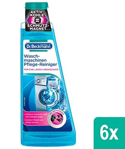 Dr. Beckmann Waschmaschinen Pflege-Reiniger, 6er Pack (6x 250 ml) | Maschinenreiniger mit Aktivkohle