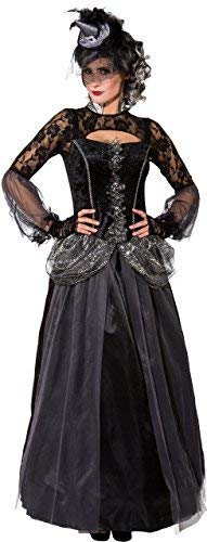 Fancy Me Damen Lang Dunkel Morbide Hexe Halloween Vampir Horror Tv Buch Film Kostüm Kleid Outfit UK 6-16 - Schwarz, UK 10-12 (EU 38/40)