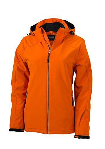 James & Nicholson Damen Wintersport Jacket Jacke, Dark-Orange, 38 (Herstellergröße: L)