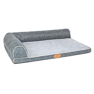 Hundebett Hundekissen Großes Hunde, dauerhafte unzerstörbare Waschbare Welpen-Zwinger-Betten für kleines Hündchen/Hündchen, Grau (größe : 120×89cm)